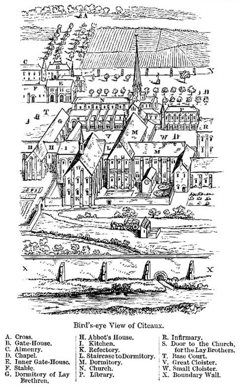 Citeaux Abbey map