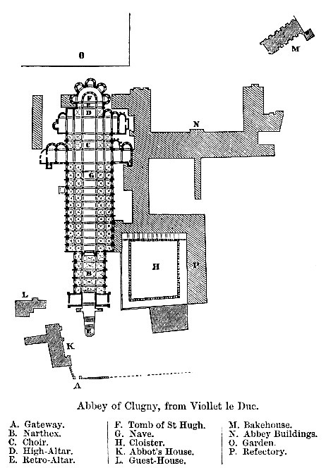 Cluny Abbey map