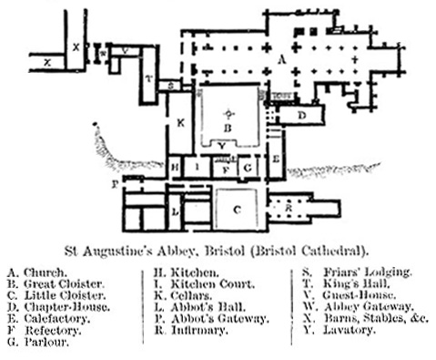 Ground Plan of St Augustines Abbey, Bristol