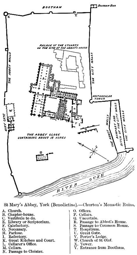 Benedictine Abbeys Cont St Mary S Abbey York England
