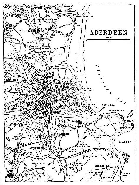 Aberdeen, Scotland, map