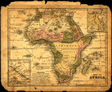 1839 Africa map image