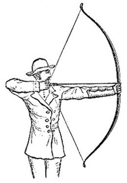 Archer drawing bow (image)
