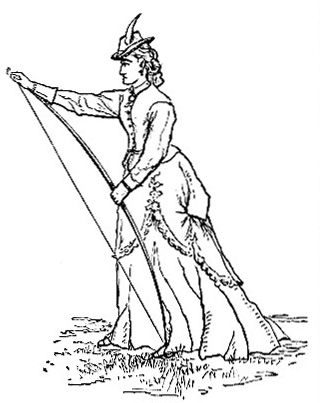 Lady  Stringing the Bow image