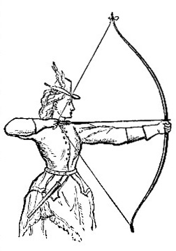 Lady Drawing the Bow (image)