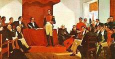 Bolivar at Congress of Angostura (image)