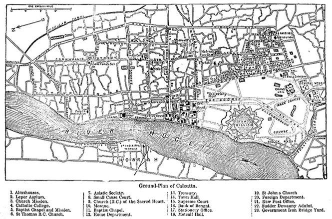 Calcutta map