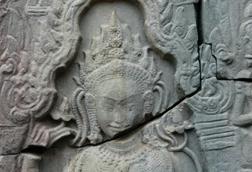 Aspara dancer, Bayon Temple, Cambodia image