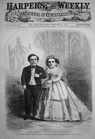 Tom Thumb and Lavinia Warren wedding image