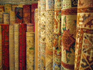 Moroccan rugs, Fez, Morocco image