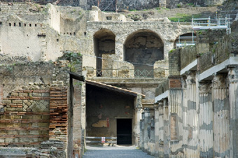 Herculaneum excavations in 2005 (image)
