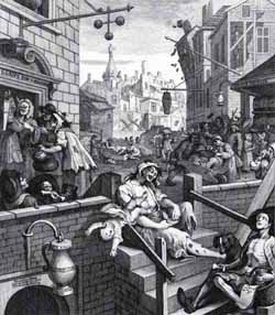 Gin Lane (by William Hogarth) image