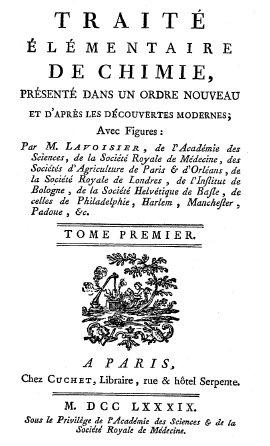 Traité élémentaire de Chimie (Lavoisier) imageby A L Lavoisier