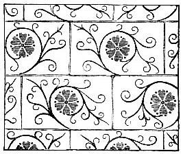 Wall painting, masonry pattern (13th C) image