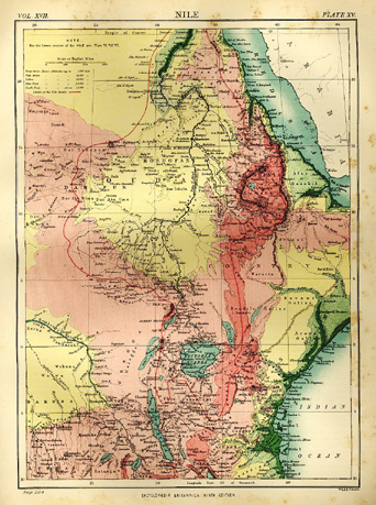Map of River Nile