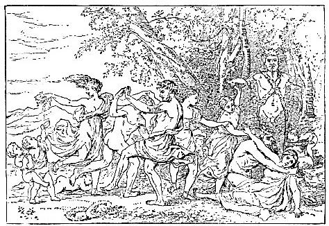 Bacchanalian Scene, by Nicolas Poussin