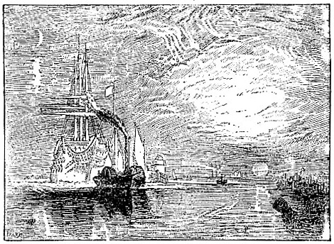 The Temeraire towed to her last Moorage, by Turner