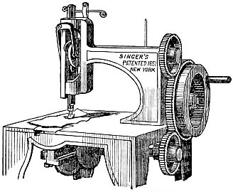 Original sewing machine of Isaac Merritt Singer (image)