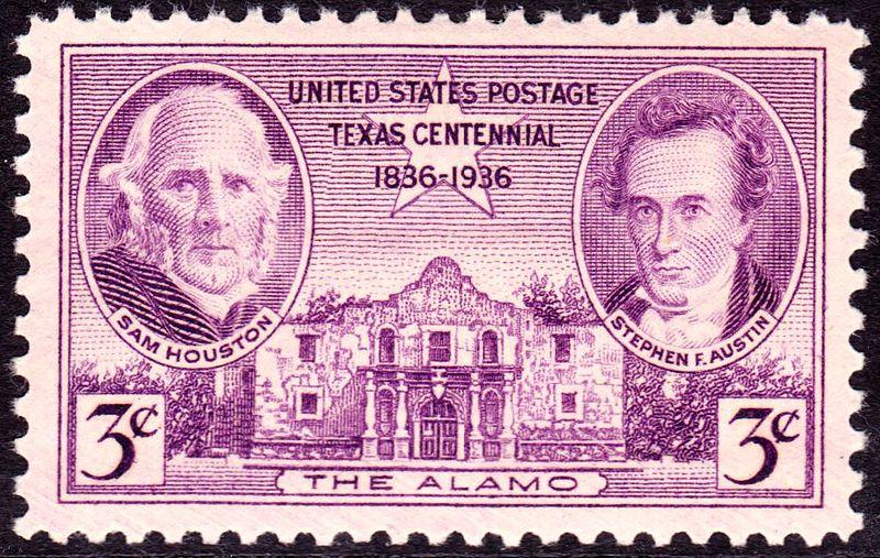 Sam Houston, the Alamo and Stephen F. Austin (image)