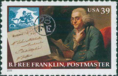 Benjamin Franklin, first U.S. Postmaster (images)