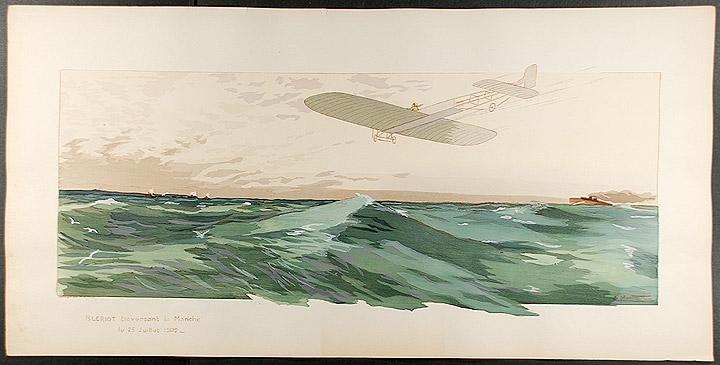 Louis Bleriot cross-Channel flight 1909 (image)