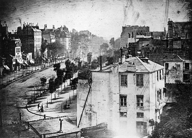 Photo of Boulevard du Temple, Paris, 1838 (image)