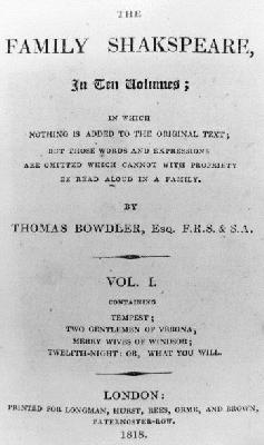 Thomas Bowdler - The Family Shakespeare (image)