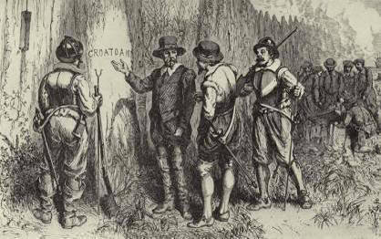 "The discovery of ""Croatoan"" (the Lost Colony) (image)"