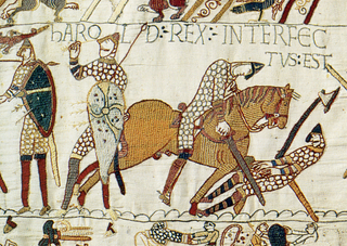 Death of King Harold, Battle of Hastings, 1066 (image)