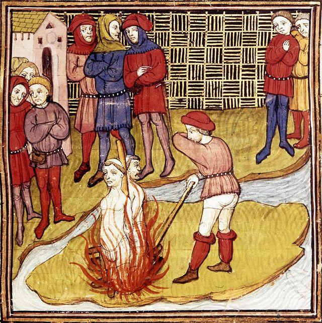 Jacques de Molay execution, Paris, 1314 (image)