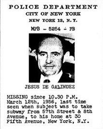 Jesus de Galindez missing persons notice, 1956 (image)