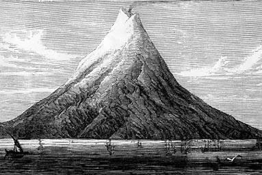 Krakatoa in the early 19th century (image)