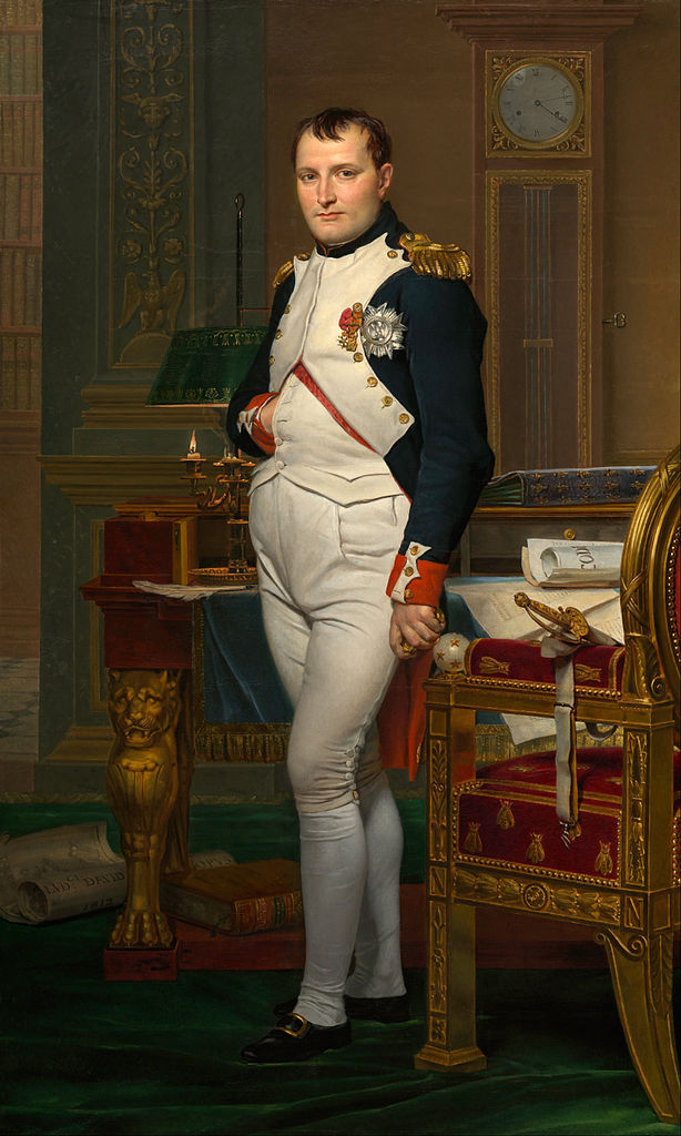 The Emperor Napoleon in His Study at the Tuileries, by J.-L. David, 1812 (image)