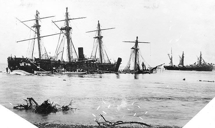Samoan Crisis shipwrecks, 1889 (image)