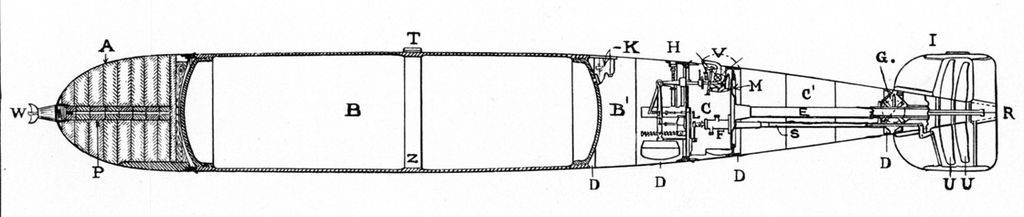 Profile of Whitehead Torpedo. 1898 (image)